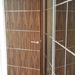 American Black Walnut Doors with inset metal strips