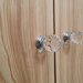 Faceted Crystal Knobs On Olive Ash Warbrobe Doors