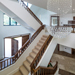 Walnut and White Painted Staircase